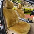 Luxury Australia Wool Car Seat Cushion Winter 100% Genuine Fur Sheepskin 1pc Front Cover - Green