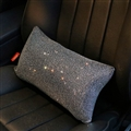 Pretty Women Rhinestone Plush Auto Seat Lumbar Pillows Waist Cushions 1pcs - Silver