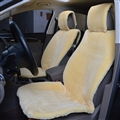 Universal Synthetic Sheepskin Car Seat Cover Sheep Wool Auto Velvet Cushion 3pcs Sets - Beige