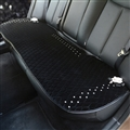 Winter Diamond Plush Car Rear Seat Cushion Woman Universal Camellia Pads 1pcs - Black White