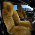 Winter Long Wool Auto Cushion Universal Genuine Sheepskin Car Seat Covers 1Piece Front Cover - Green