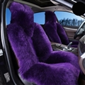 Winter Long Wool Auto Cushion Universal Genuine Sheepskin Car Seat Covers 1Piece Front Cover - Purple