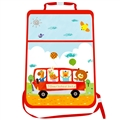 Animals Waterproof Kids Car Anti-Kick Pad Seat Back Storage Bag Touchable Screen Organizer Protector - Red