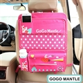 Cute Bunny Multi-function Auto Seat Back Hanging Pocket Thermal Insulation Storage Bag - Pink