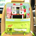 Cute Dinosaur Multi-function Auto Seat Back Hanging Pocket Thermal Insulation Storage Bag - Green