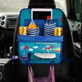 Fly Bear Multi-function Car Seat Back Hanging Pocket Thermal Insulation Storage Bag for Kid - Blue