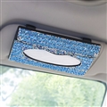 Luxury Creative Crystal Auto Tissue Paper Box Hanging Women Auto Interior Accessories - Green