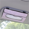 Luxury Creative Crystal Auto Tissue Paper Box Hanging Women Auto Interior Accessories - Pink