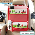 Red Hat Fold Multi-function Auto Seat Back Hanging Pocket Thermal Insulation Storage Bag for Kid - Red