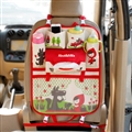 Red Hat Fold Multi-function Car Seat Back Hanging Pocket Thermal Insulation Storage Bag for Kid - Red