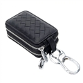 Beautiful Cute Cool Universal Genuine Leather Auto Key Bags Key Chain - Black