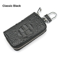 Luxurious Beautiful Gorgeous Genuine Leather Auto Key Bags Key Chain - Black