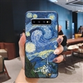 Oil Painting Silica Gel Shell TPU Shield Back Soft Cases Skin Covers for Samsung Galaxy S10 - Sky