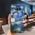 Oil Painting Silica Gel Shell TPU Shield Back Soft Cases Skin Covers for Samsung Galaxy S8 - Sky