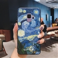 Oil Painting Silica Gel Shell TPU Shield Back Soft Cases Skin Covers for Samsung Galaxy S9 - Sky