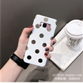 Polka Dots Silica Gel Shell TPU Shield Back Soft Cases Skin Covers for Samsung Galaxy S8 - White