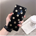 Polka Dots Silica Gel Shell TPU Shield Back Soft Cases Skin Covers for Samsung Galaxy S9 Plus S9+ - Black