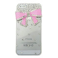 Bowknot diamond Crystal Cases Bling Hard Covers for iPhone 11 Pro - pink