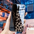 Lanyard Leopard Print Mirror Surface Silicone Glass Covers Protective Back Cases For iPhone 11 Pro Max - Black